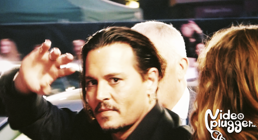 johnny depp at london film festival premiere of black mass