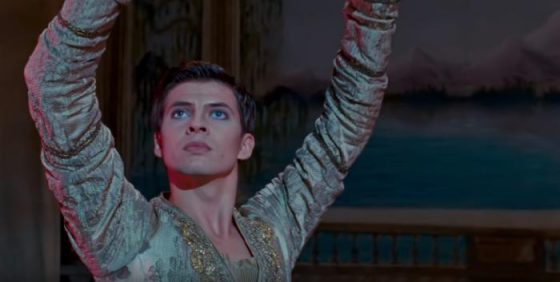 Picture from th movie The White Crow of the protagonist Rudolf Nureyev played by Oleg Ivenko