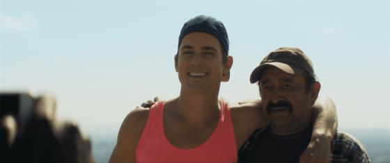 Still from the movie Papi Chulo starring Matt Bomer (Left) and